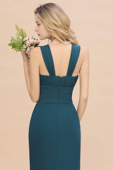 Elegant Round Neck Sleeveless Stormy Bridesmaid Dress with Ruffles_58