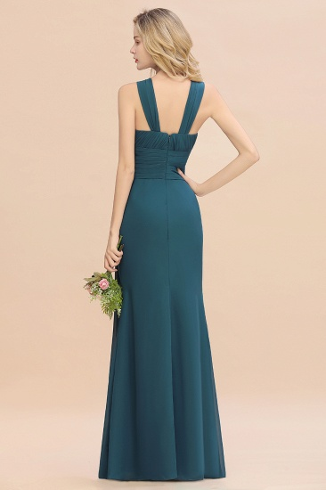 Elegant Round Neck Sleeveless Stormy Bridesmaid Dress with Ruffles_52