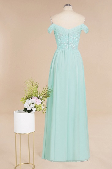 Simple Off-the-shoulder Long Affordable Bridesmaid Dress With Appliques_11