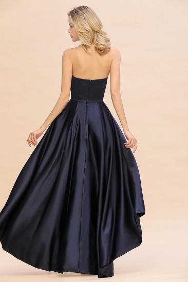 BMbridal Affordable Hi-Lo Strapless Satin Bridesmaid dresses Online_1