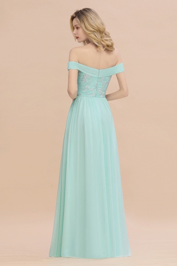 Simple Off-the-shoulder Long Affordable Bridesmaid Dress With Appliques_3