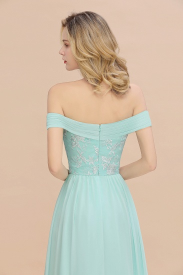 Simple Off-the-shoulder Long Affordable Bridesmaid Dress With Appliques_9