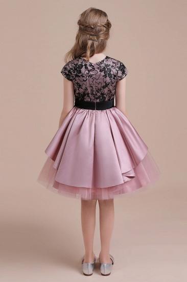 BMbridal A-Line Cap Sleeve Lace Tulle Knee Length Flower Girl Dress On Sale_9