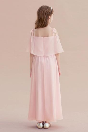 BMbridal A-Line Cold-shoulder Chiffon Flower Girl Dress Online_3