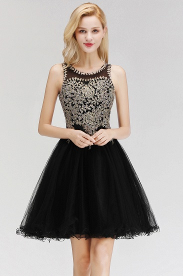 BMbridal A-line Tulle Lace Homecoming Dress with Beadings_4