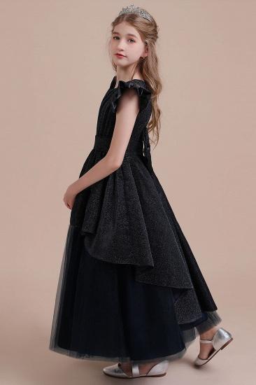 BMbridal A-Line Glitter Cap Sleeve Tulle Flower Girl Dress On Sale_6