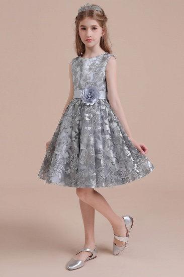 BMbridal A-Line Chic Bow Tulle Flower Girl Dress Online_7