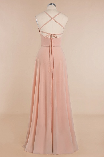 BMbridal Chic Straps Sleeveless Chiffon Affordable Bridesmaid Dresses with Ruffle_12