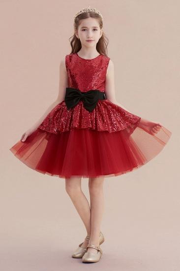 BMbridal A-Line Bows Sequins Tulle Flower Girl Dress On Sale_1