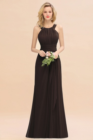 Elegant Round Neck Sleeveless Stormy Bridesmaid Dress with Ruffles_11