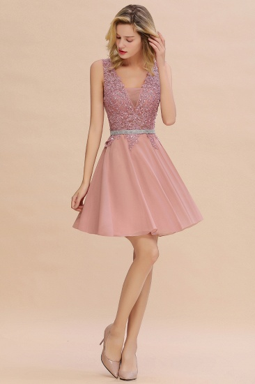 BMbridal Lovely Sleeveless Short Prom Dress Mini Homecoming Dress With Appliques_15
