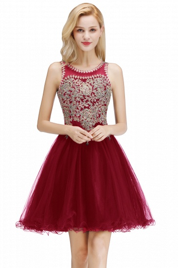 BMbridal A-line Tulle Lace Homecoming Dress with Beadings_1