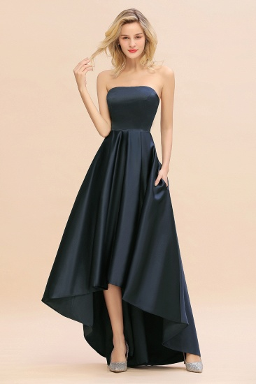 BMbridal Affordable Hi-Lo Strapless Satin Bridesmaid dresses Online_1