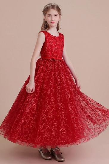 BMbridal A-Line Elegant Ankle Length Tulle Flower Girl Dress Online_6