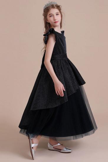 BMbridal A-Line Glitter Cap Sleeve Tulle Flower Girl Dress On Sale_5