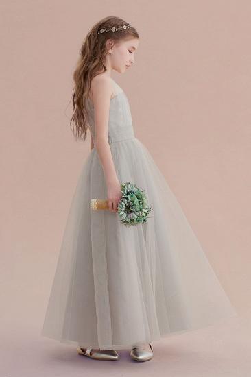 BMbridal A-Line Chic Ankle Length Tulle Flower Girl Dress Online_8