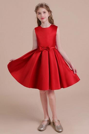 BMbridal A-Line Latest Satin Flower Girl Dress Online_6