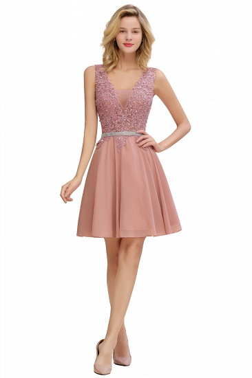 BMbridal Lovely Sleeveless Short Prom Dress Mini Homecoming Dress With Appliques_9