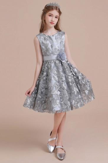 BMbridal A-Line Chic Bow Tulle Flower Girl Dress Online_8