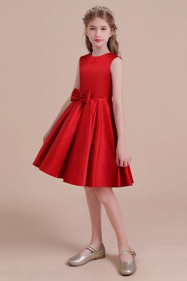 BMbridal A-Line Latest Satin Flower Girl Dress Online_5