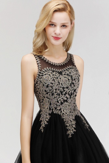 BMbridal A-line Tulle Lace Homecoming Dress with Beadings_9