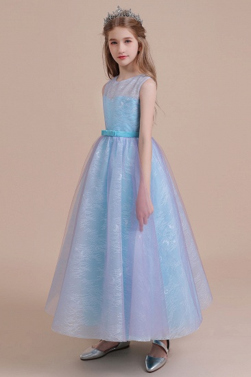 BMbridal A-Line Illusion Lace Tulle Flower Girl Dress Online_4