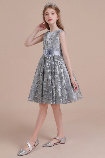 BMbridal A-Line Chic Bow Tulle Flower Girl Dress Online_4