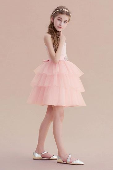 BMbridal A-Line Graceful Layered Tulle Flower Girl Dress Online_4