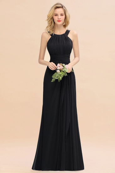 Elegant Round Neck Sleeveless Stormy Bridesmaid Dress with Ruffles_29