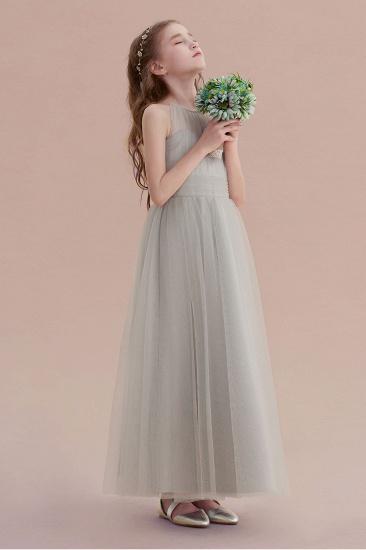 BMbridal A-Line Chic Ankle Length Tulle Flower Girl Dress Online_7