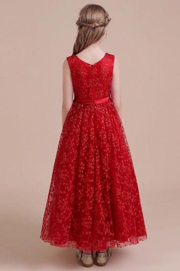 BMbridal A-Line Elegant Ankle Length Tulle Flower Girl Dress Online_3