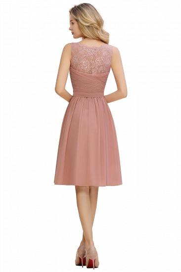 BMbridal A-line Chiffon Ruffle Bridesmaid Dress Sleeveless Lace Homecoming Dress_20