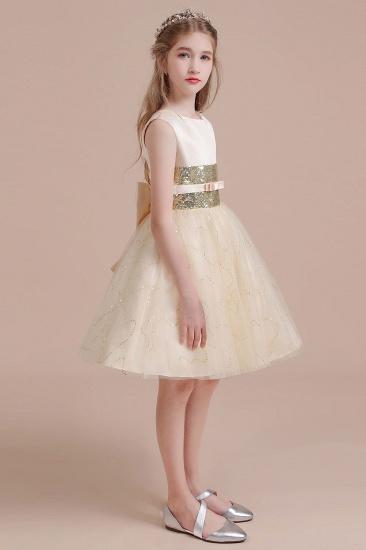 BMbridal A-Line Cute Sequins Tulle Flower Girl Dress Online_5