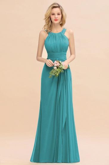 BMbridal Elegant Round Neck Sleeveless Stormy Bridesmaid Dress with Ruffles_32