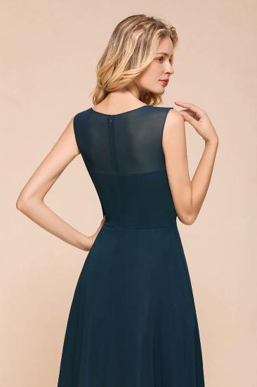 BMbridal Beautiful Chiffon Jewel Ruffle Navy Affordable Bridesmaid Dresses Online_9