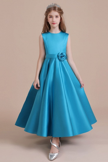 BMbridal A-Line Awesome Satin Flower Girl Dress Online