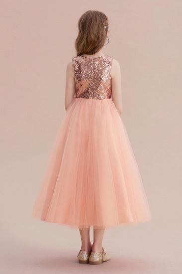 BMbridal A-Line Graceful Sequins Tulle Flower Girl Dress On Sale_3