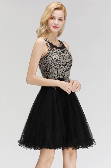 BMbridal A-line Tulle Lace Homecoming Dress with Beadings_7