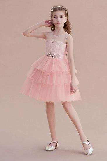 BMbridal A-Line Graceful Layered Tulle Flower Girl Dress Online_5