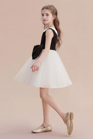 BMbridal A-Line Affordable Bow Tulle Flower Girl Dress On Sale_4