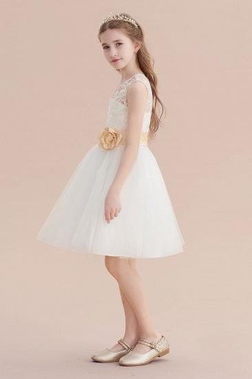 BMbridal A-Line Lace Tulle Knee Length Dress Flower Girl Dress Online_5