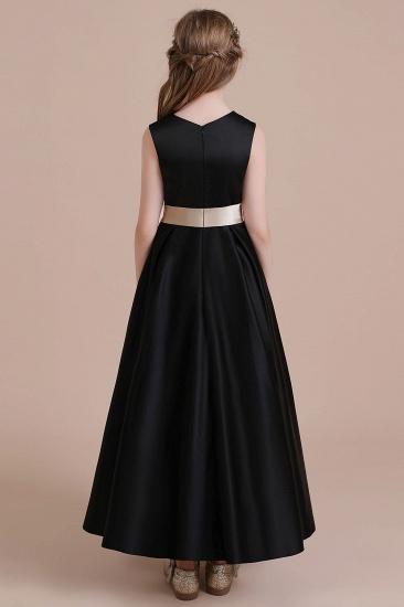 BMbridal A-Line Elegant Satin Flower Girl Dress Online_3