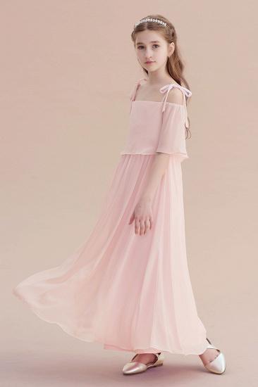 BMbridal A-Line Cold-shoulder Chiffon Flower Girl Dress Online_6