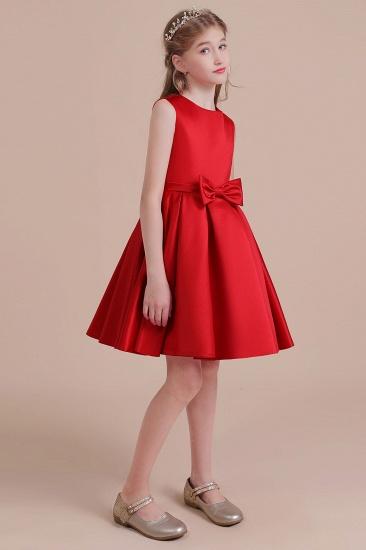 BMbridal A-Line Latest Satin Flower Girl Dress Online_4