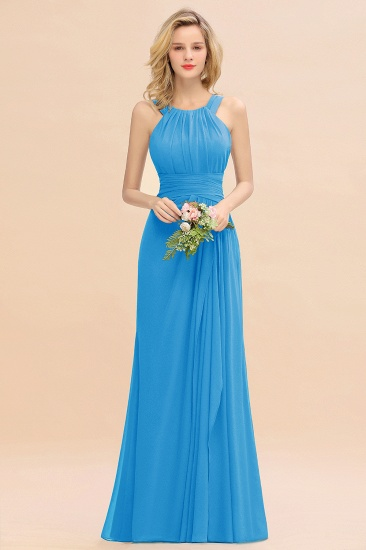 Elegant Round Neck Sleeveless Stormy Bridesmaid Dress with Ruffles_25