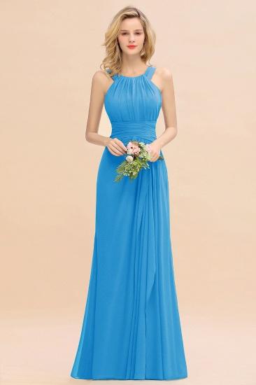 BMbridal Elegant Round Neck Sleeveless Stormy Bridesmaid Dress with Ruffles_25
