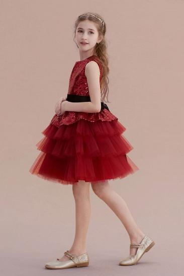 BMbridal A-Line Tulle Sequins Knee Length Flower Girl Dress Online_3