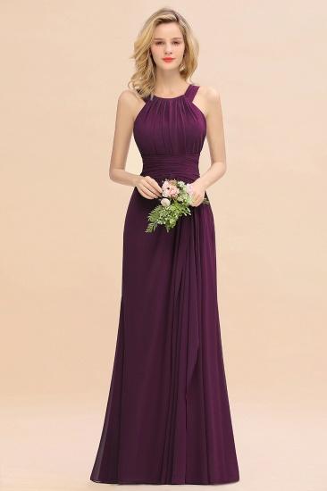 BMbridal Elegant Round Neck Sleeveless Stormy Bridesmaid Dress with Ruffles_20