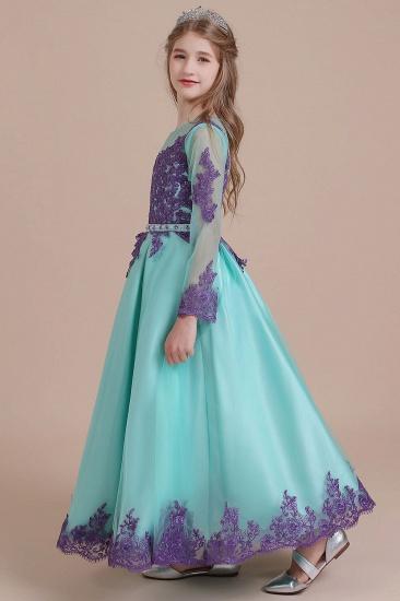 BMbridal A-Line Chic Long Sleeve Appliques Flower Girl Dress Online_5
