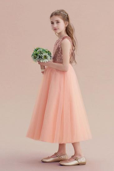 BMbridal A-Line Graceful Sequins Tulle Flower Girl Dress On Sale_5